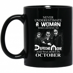 A Woman Who Listens To Depeche Mode And Was Born In October Mug