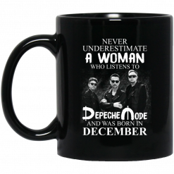 A Woman Who Listens To Depeche Mode And Was Born In December Mug