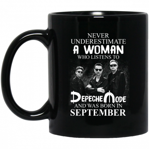 A Woman Who Listens To Depeche Mode And Was Born In September Mug