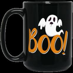 Halloween Exploring Boo With Ghost Spooky Halloween Trick Mug