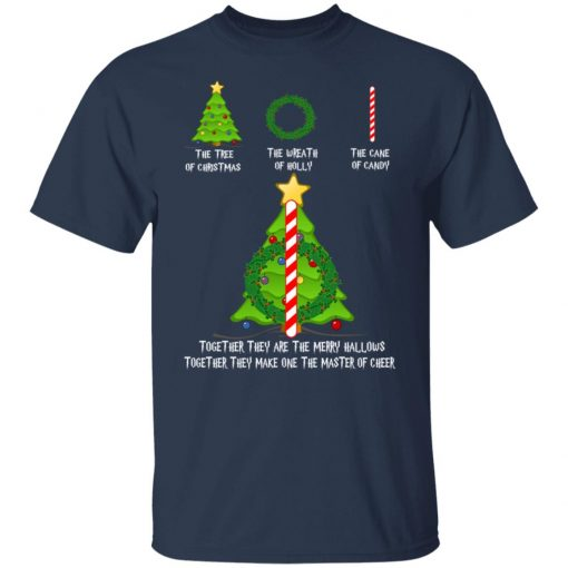 Harry Potter The Tree Of Christmas The Wreath Of Holly The Cane Of Candy T-Shirts, Hoodies, Long Sleeve