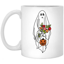 Floral Ghost Halloween Spooky Mug