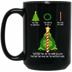 Harry Potter The Tree Of Christmas The Wreath Of Holly The Cane Of Candy Mug