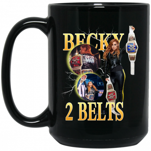 Becky Lynch 2 Belts Mug
