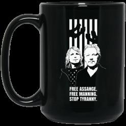 Free Assange Free Manning Stop Tyranny Mug