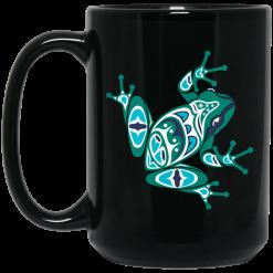 Frog Pacific Northwest Native American Indian Style Art Mug