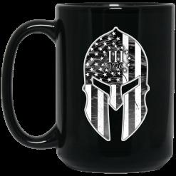 Spartan Soldier Three Percenters 1776 Mug
