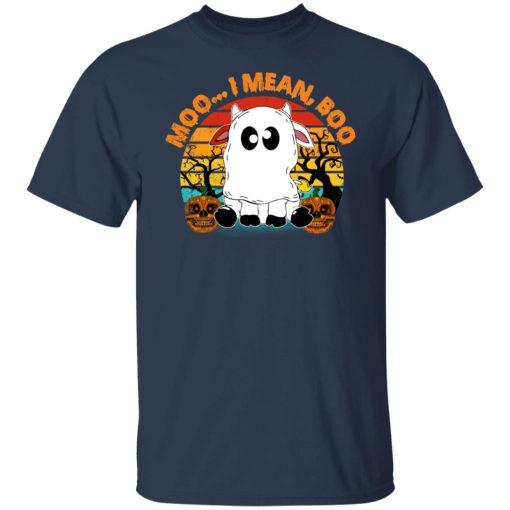 Ghost Cow Moo I Mean Boo Pumpkin Moon Halloween Vintage T-Shirts, Hoodies, Long Sleeve