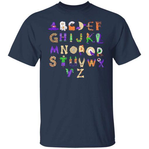 Halloween Alphabet Shirt For Teachers T-Shirts, Hoodies, Long Sleeve